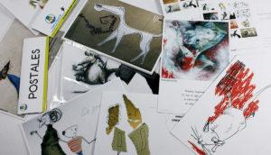 Set ilustrado de postales, imanes, croqueras, adhesivos