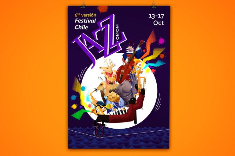 Cartel de animales jazz