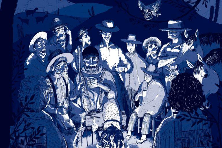 Ilustraciones del libro Lugareños y afuerinos